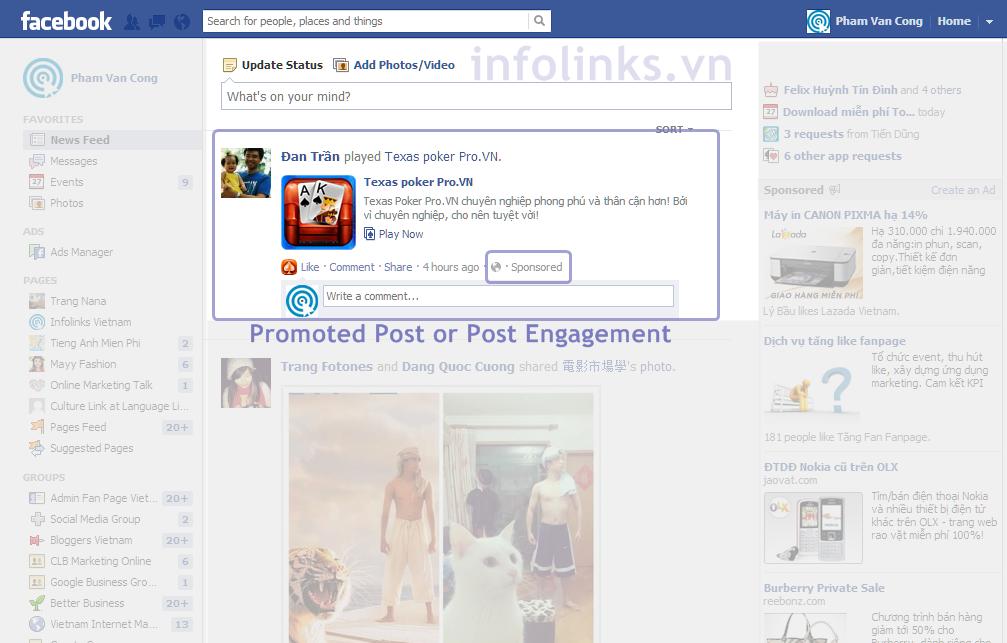 Facebook Post Engagement Để quảng cáo hiệu quả trên Facebook!