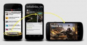 Quảng cáo trên di động với chức năng Click to Download - Click to Install