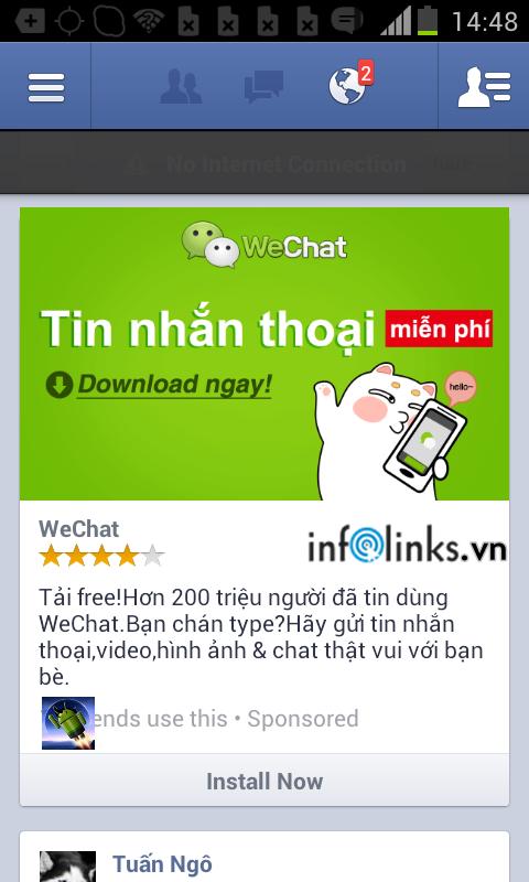 Quảng cáo trên Ứng dụng Facebook di động trên Android