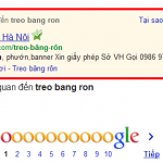 Treo bang ron