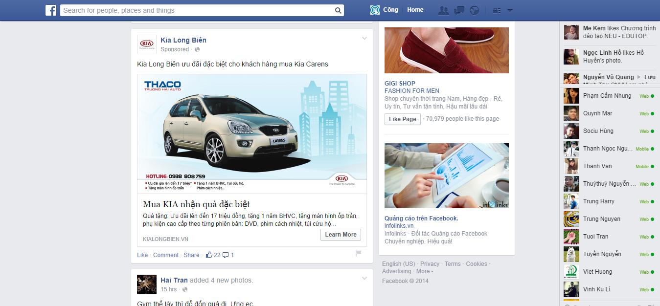 Quảng cáo dạng Banner Ads trên Facebook