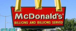 McDonald's sử dụng thông điệp: Hàng triệu hàng triệu khách hàng đã được phục vụ