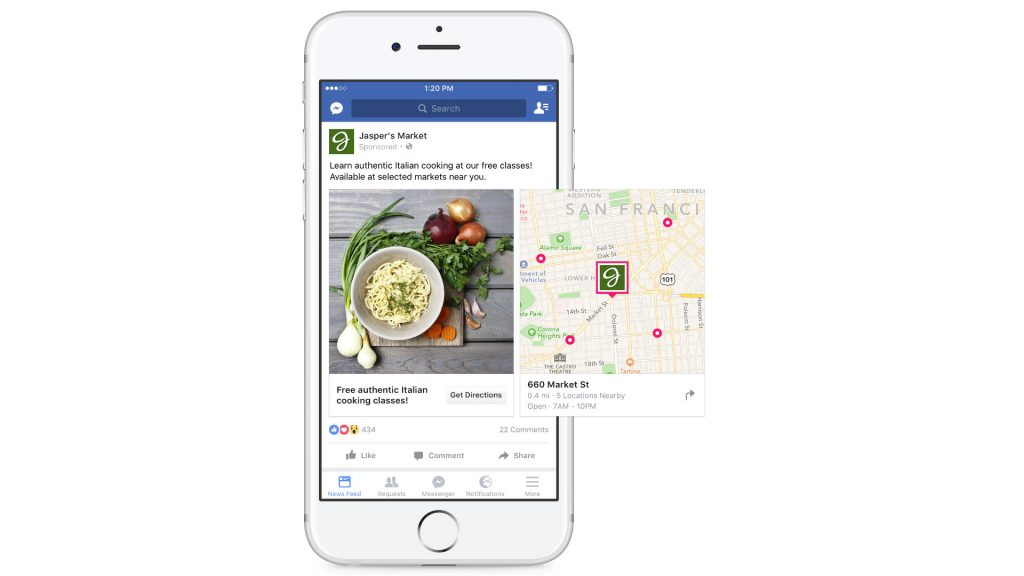 Facebook Local Ads with Maps