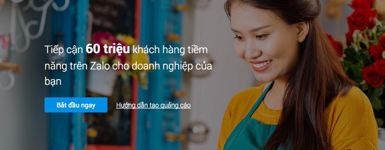 Tiếp cận 60 triệu khách hàng tiềm năng với Quảng cáo trên Zalo